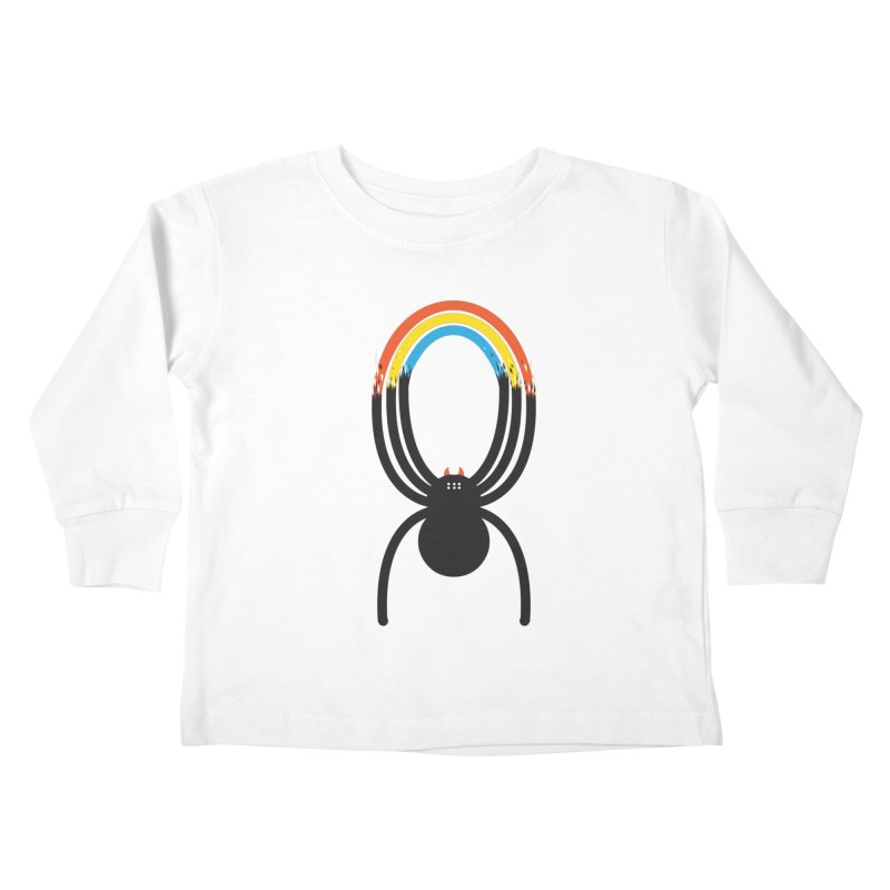 Spiders Are Rainbows Kids Toddler Longsleeve T-Shirt by Ryder Doty Shop