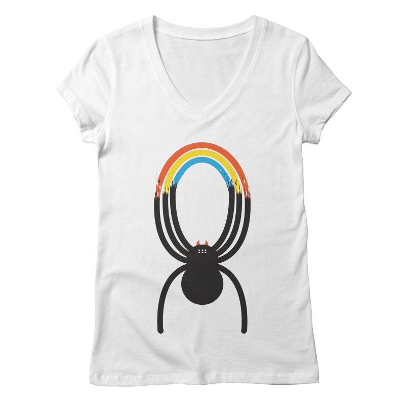 Spiders Are Rainbows Women's V-Neck by Ryder Doty Shop