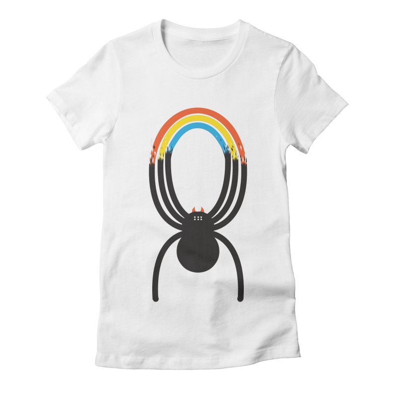 Spiders Are Rainbows Women's Fitted T-Shirt by Ryder Doty Design Shop