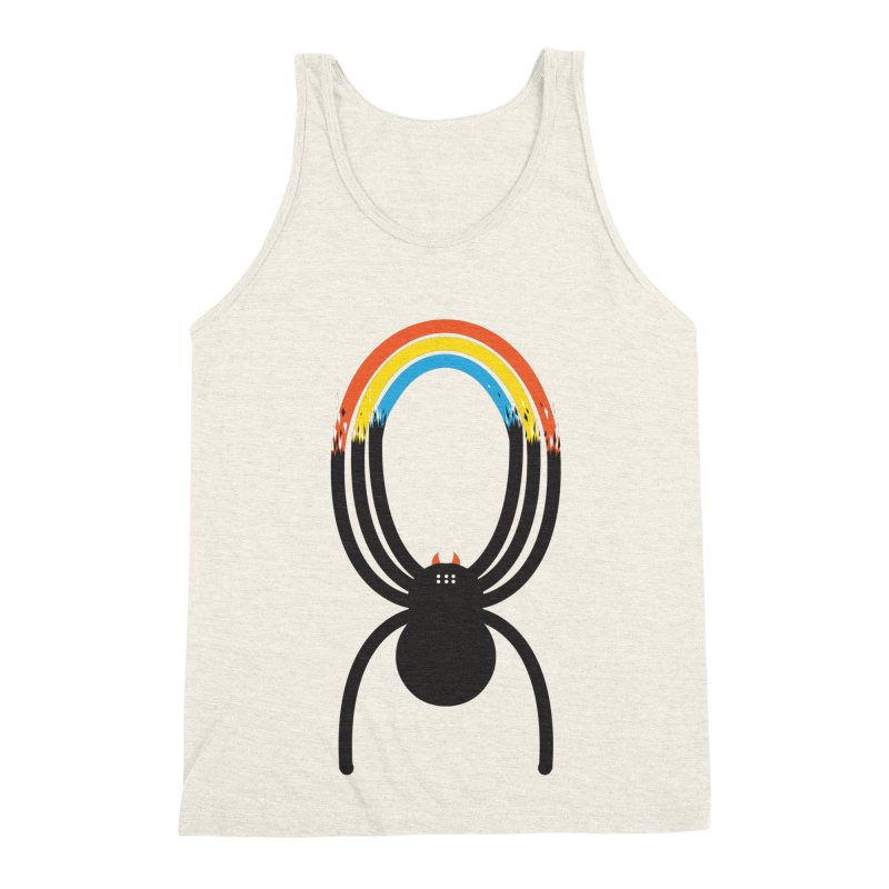 Spiders Are Rainbows Men's Triblend Tank by Ryder Doty Shop