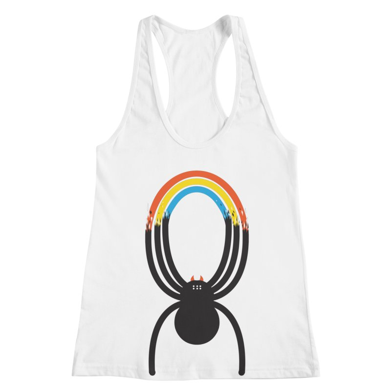 Spiders Are Rainbows Women's Racerback Tank by Ryder Doty Shop