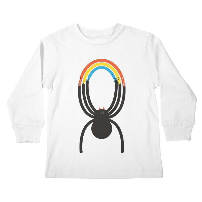 Spiders Are Rainbows Kids Longsleeve T-Shirt by Ryder Doty Shop