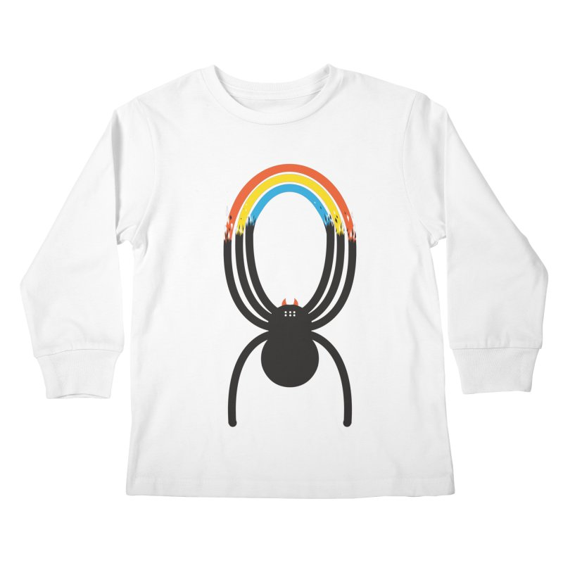 Spiders Are Rainbows Kids Longsleeve T-Shirt by Ryder Doty Design Shop