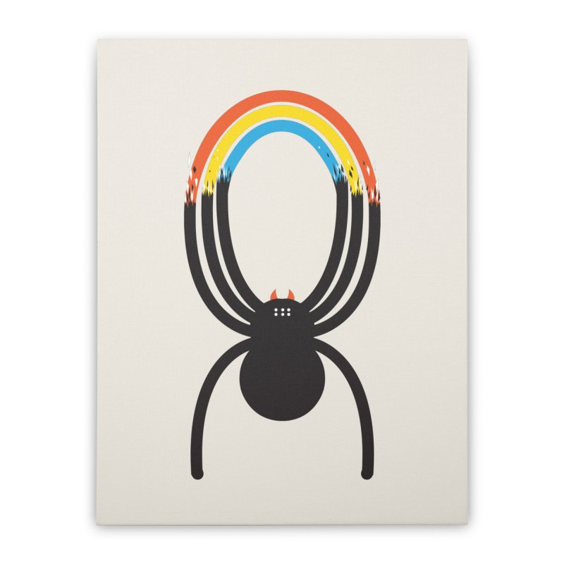 Spiders Are Rainbows Home Stretched Canvas by Ryder Doty Shop