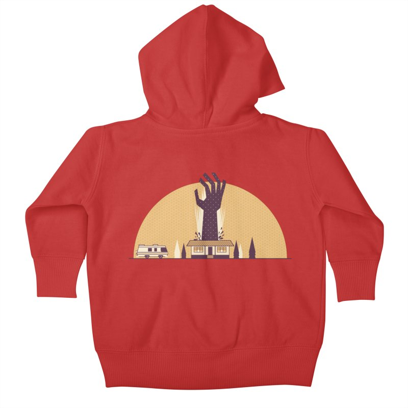 Cabin in the Woods Kids Baby Zip-Up Hoody by Ryder Doty Shop