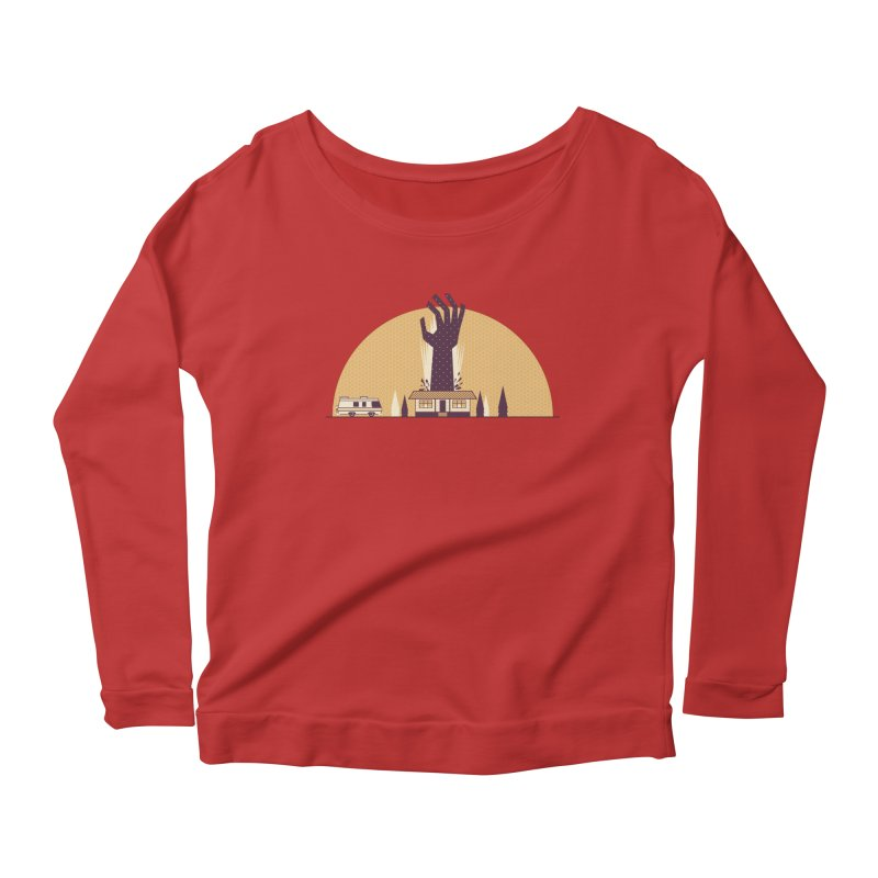 Cabin in the Woods Women's Longsleeve Scoopneck  by Ryder Doty Shop