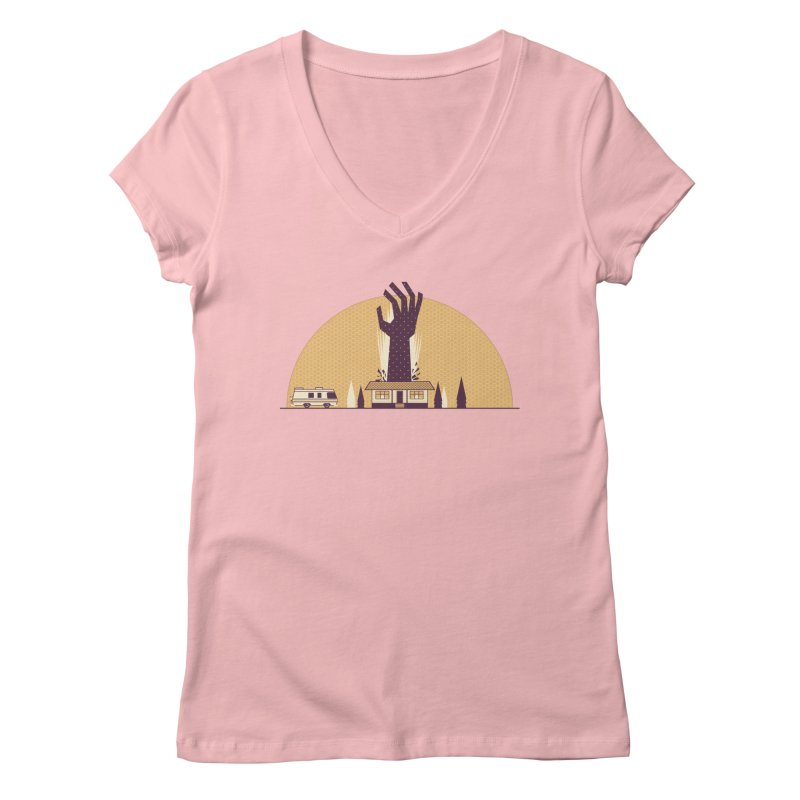 Cabin in the Woods Women's V-Neck by Ryder Doty Shop