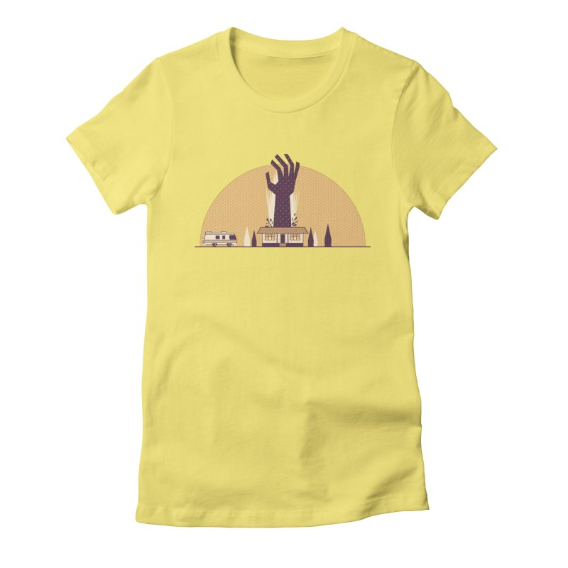 Cabin in the Woods Women's Fitted T-Shirt by Ryder Doty Shop