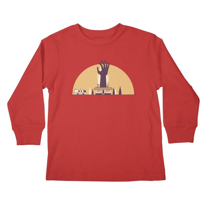Cabin in the Woods Kids Longsleeve T-Shirt by Ryder Doty Shop