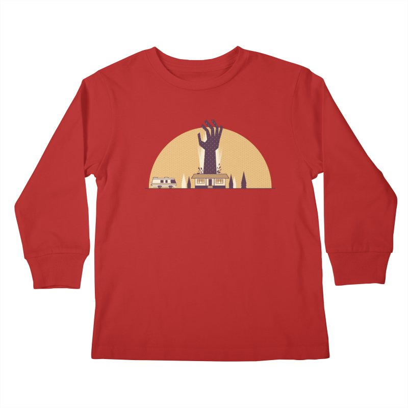 Cabin in the Woods Kids Longsleeve T-Shirt by Ryder Doty Design Shop