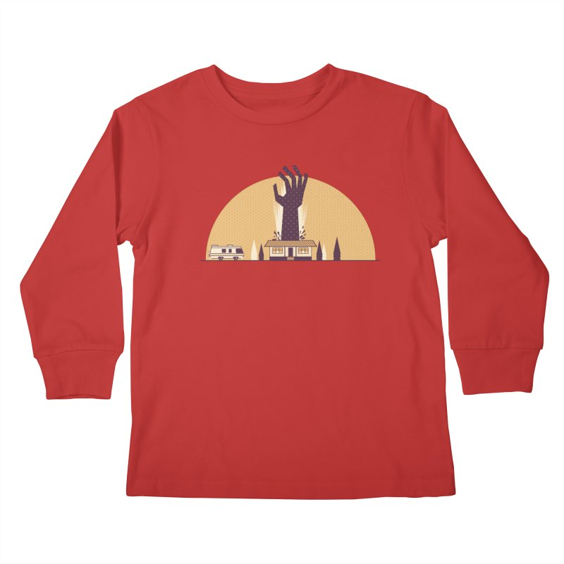 Cabin in the Woods Kids Longsleeve T-Shirt by Ryder Doty Shop