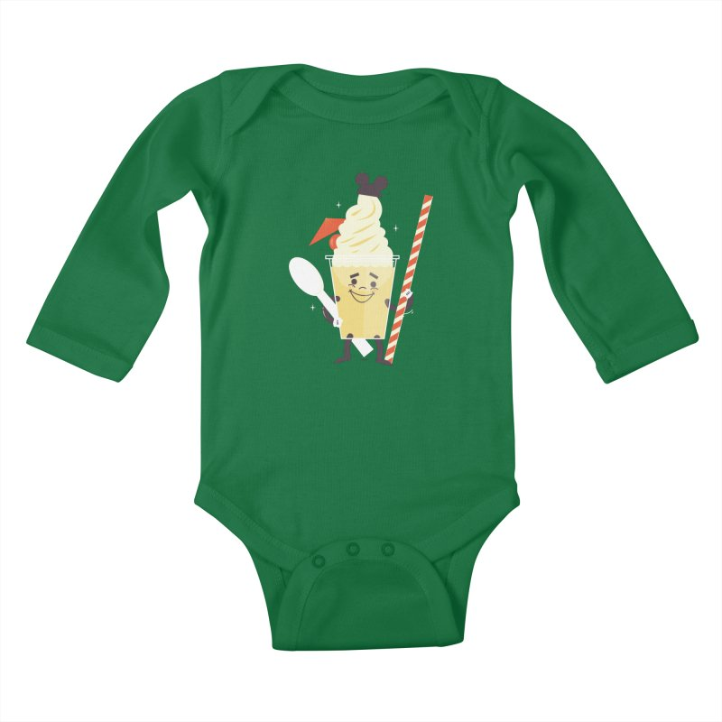Dole Whip Kids Baby Longsleeve Bodysuit by Ryder Doty Shop