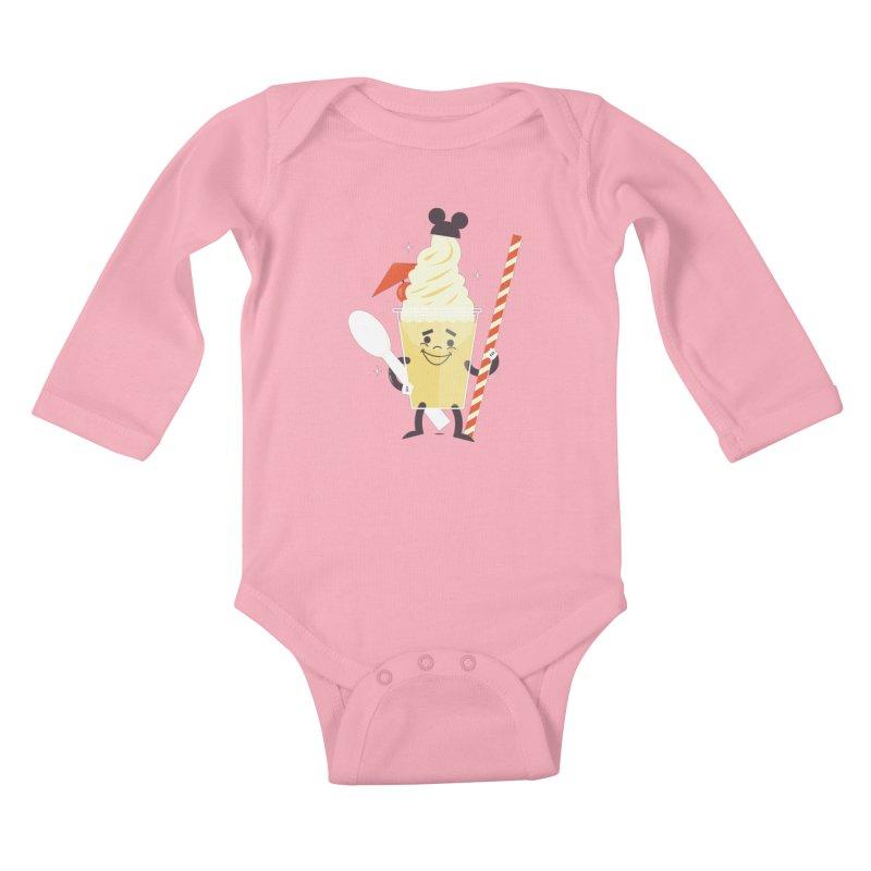 Dole Whip Kids Baby Longsleeve Bodysuit by Ryder Doty Shop