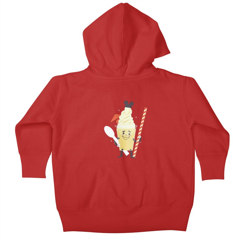 Dole Whip Kids Baby Zip-Up Hoody by Ryder Doty Design Shop