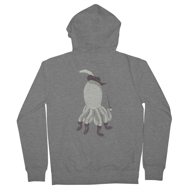 Octopus in Boots Men's French Terry Zip-Up Hoody by Ryder Doty Shop