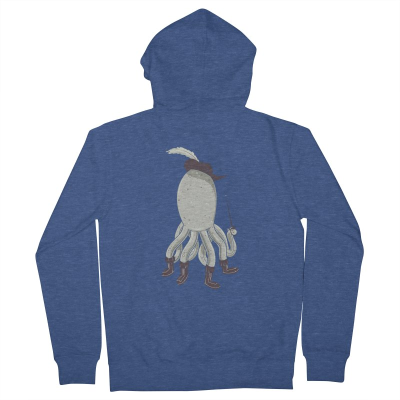 Octopus in Boots Men's Zip-Up Hoody by Ryder Doty Shop