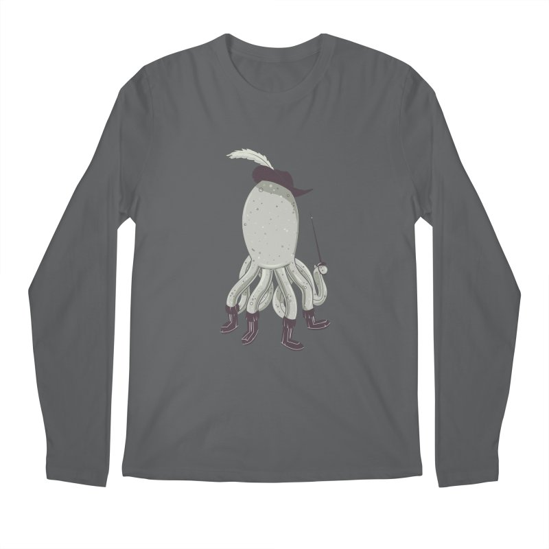 Octopus in Boots Men's Regular Longsleeve T-Shirt by Ryder Doty Shop