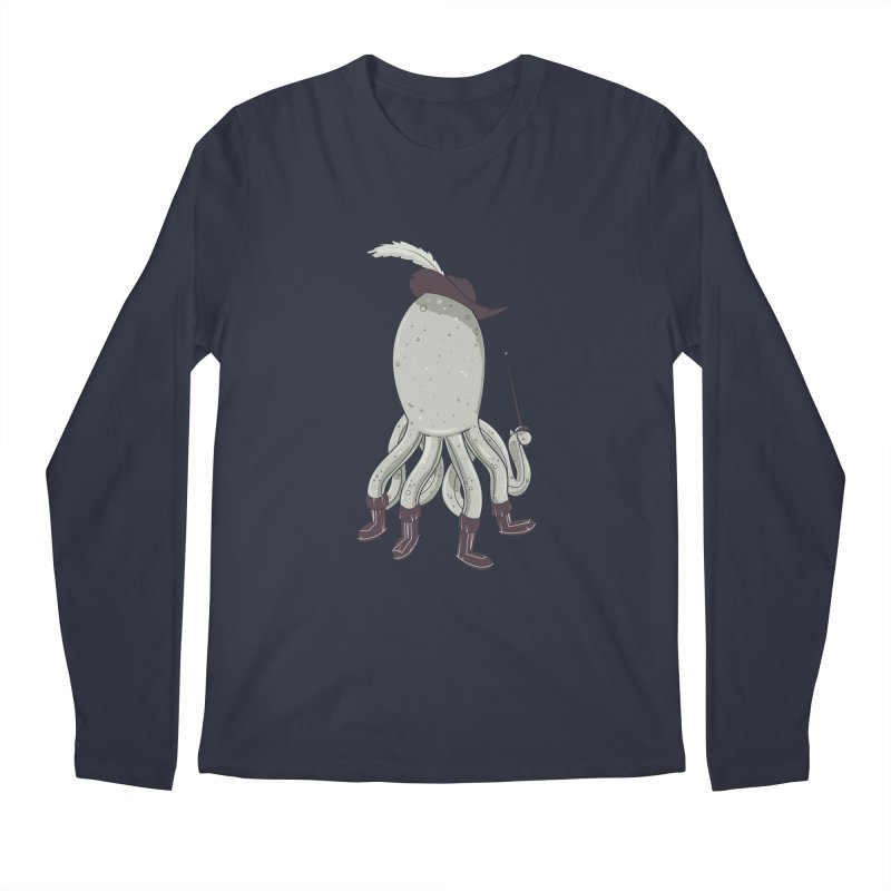 Octopus in Boots Men's Longsleeve T-Shirt by Ryder Doty Design Shop