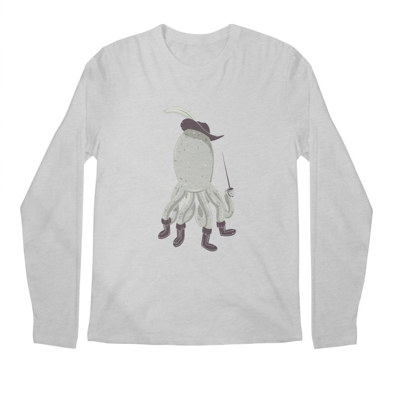 Octopus in Boots Men's Longsleeve T-Shirt by Ryder Doty Shop