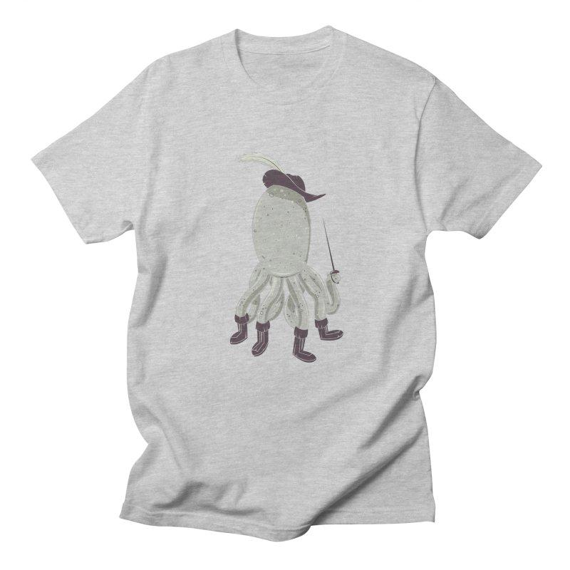 Octopus in Boots Men's Regular T-Shirt by Ryder Doty Shop