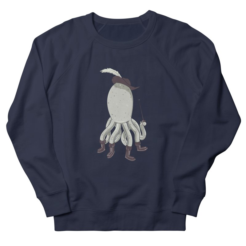 Octopus in Boots Women's French Terry Sweatshirt by Ryder Doty Shop