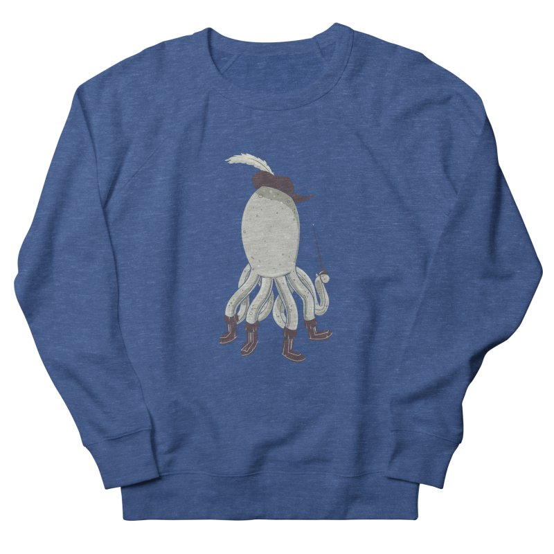 Octopus in Boots Men's French Terry Sweatshirt by Ryder Doty Shop