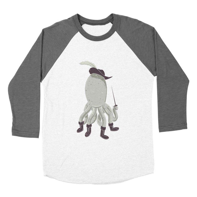 Octopus in Boots Men's Baseball Triblend Longsleeve T-Shirt by Ryder Doty Shop