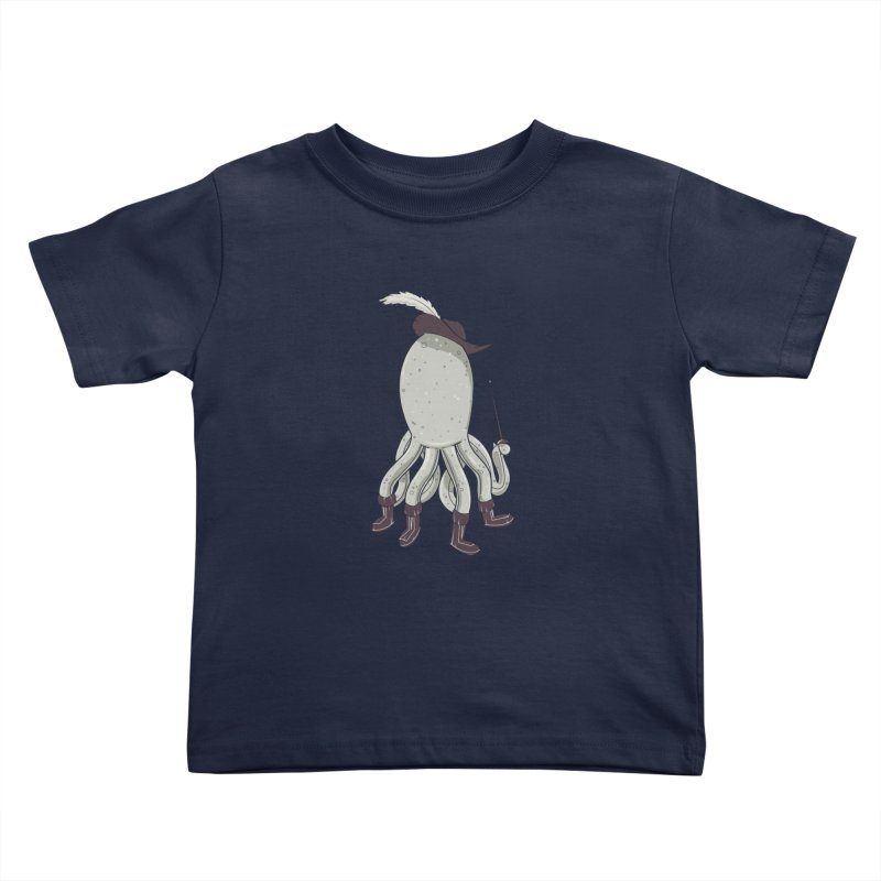 Octopus in Boots Kids Toddler T-Shirt by Ryder Doty Shop