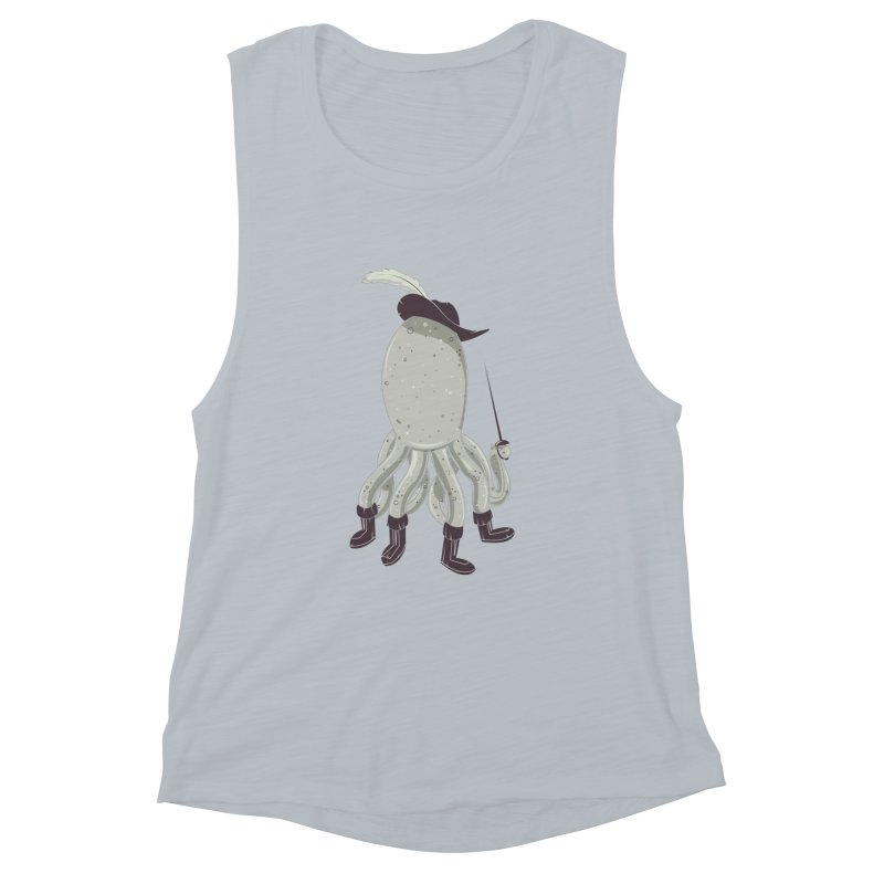 Octopus in Boots Women's Muscle Tank by Ryder Doty Shop