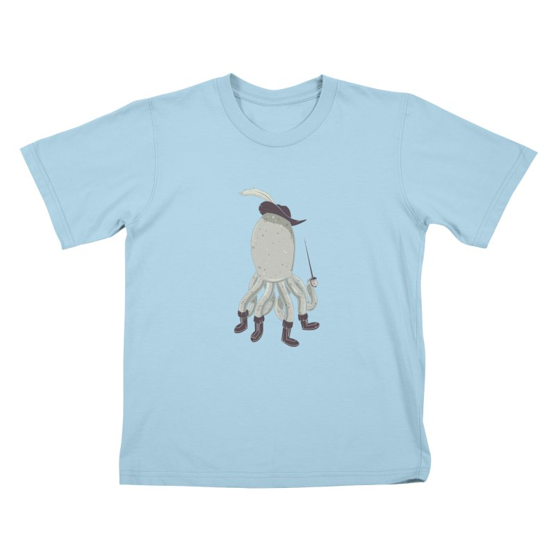 Octopus in Boots Kids T-Shirt by Ryder Doty Shop