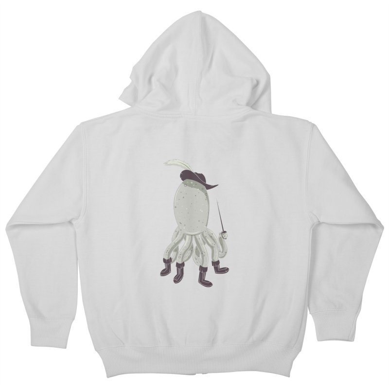 Octopus in Boots Kids Zip-Up Hoody by Ryder Doty Shop
