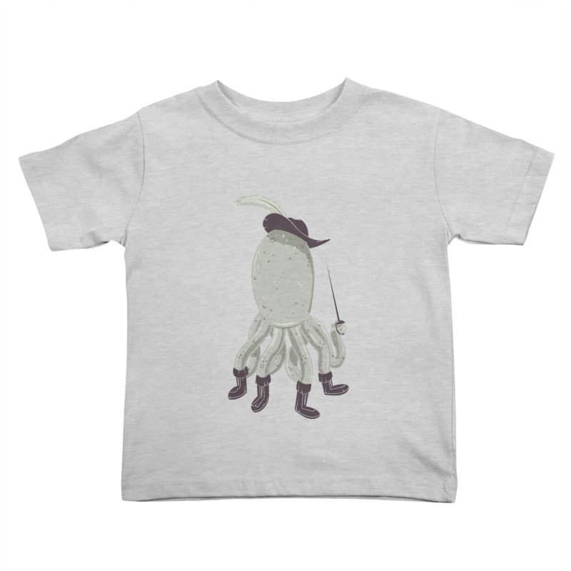 Octopus in Boots Kids Toddler T-Shirt by Ryder Doty Design Shop