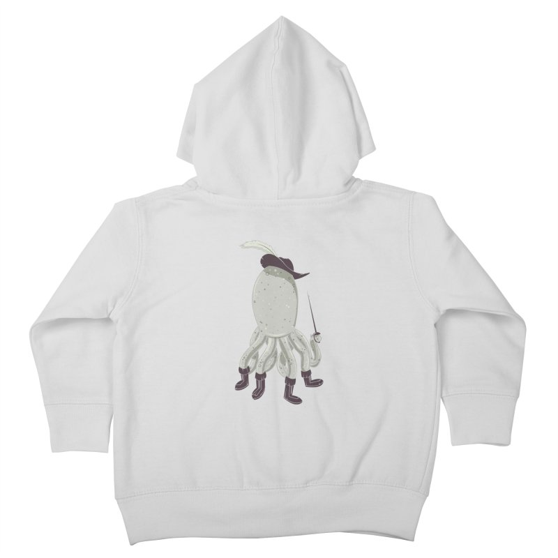 Octopus in Boots Kids Toddler Zip-Up Hoody by Ryder Doty Design Shop