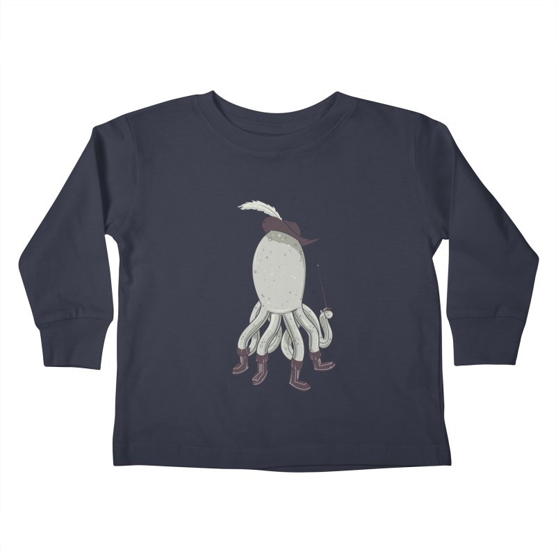 Octopus in Boots Kids Toddler Longsleeve T-Shirt by Ryder Doty Shop