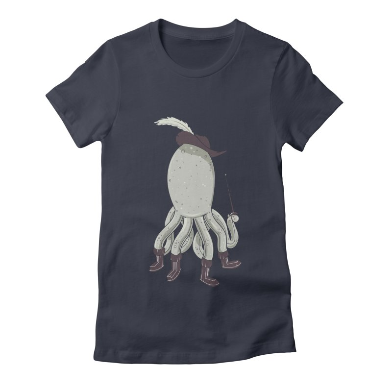 Octopus in Boots Women's Fitted T-Shirt by Ryder Doty Shop