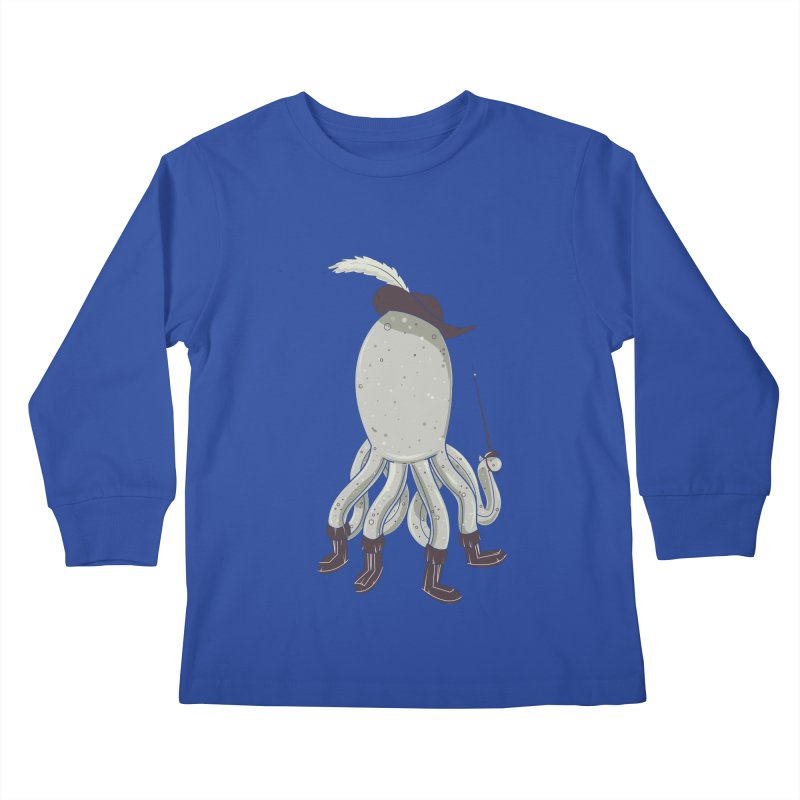 Octopus in Boots Kids Longsleeve T-Shirt by Ryder Doty Shop