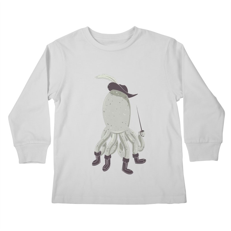 Octopus in Boots Kids Longsleeve T-Shirt by Ryder Doty Design Shop