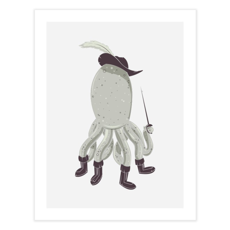 Octopus in Boots Home Fine Art Print by Ryder Doty Shop