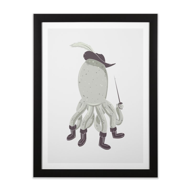 Octopus in Boots Home Framed Fine Art Print by Ryder Doty Shop