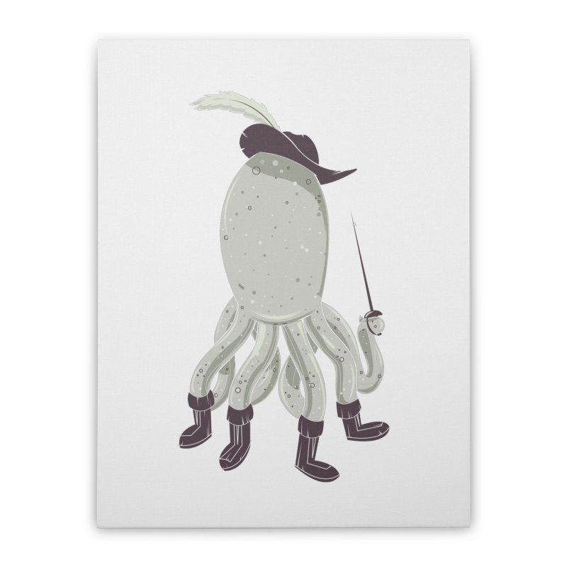 Octopus in Boots Home Stretched Canvas by Ryder Doty Shop