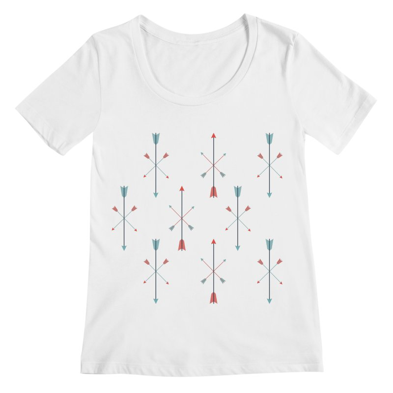 Arrows Women's Scoopneck by Ryder Doty Shop