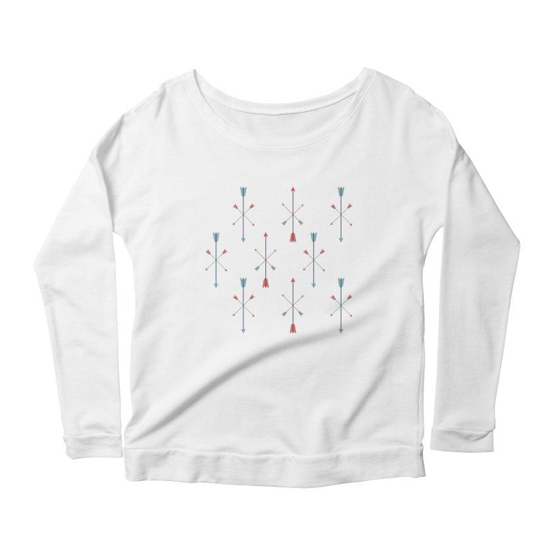 Arrows Women's Scoop Neck Longsleeve T-Shirt by Ryder Doty Shop