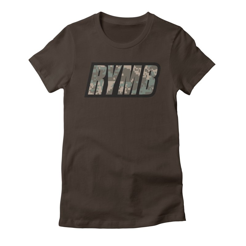 RYMB Camo Women's Fitted T-Shirt by RYMB Everyday