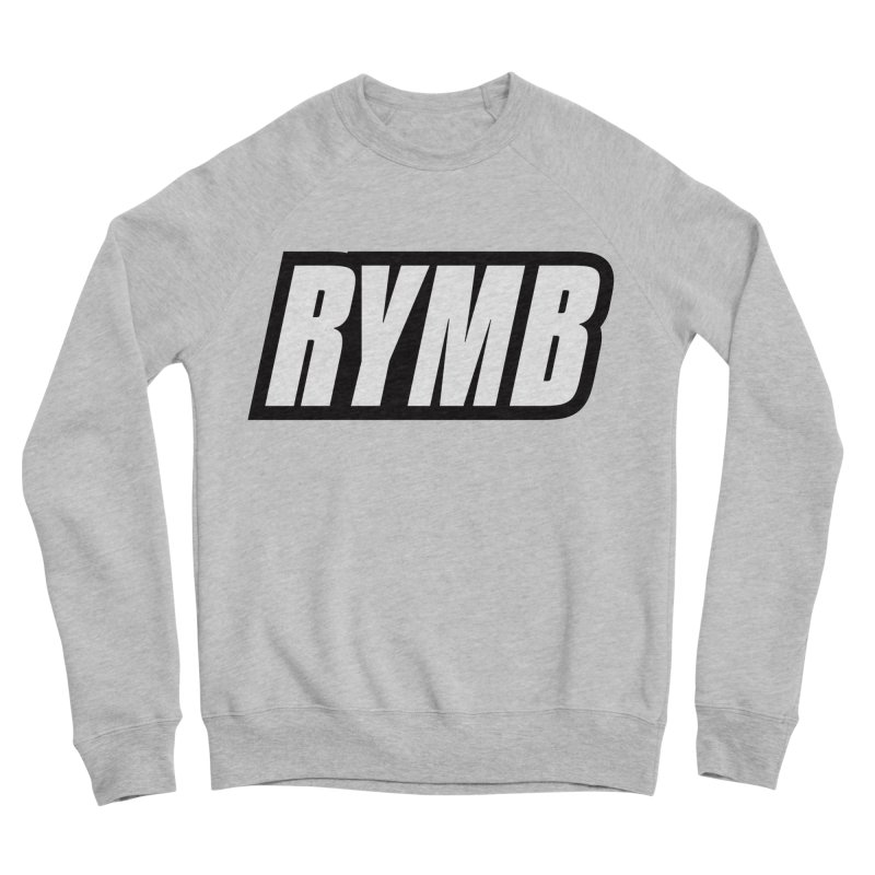 RYMB Logo Black and White Men's Sponge Fleece Sweatshirt by RYMB Everyday