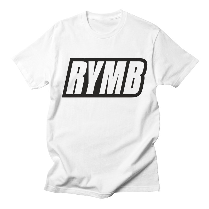 RYMB Logo Black and White Men's T-Shirt by RYMB Everyday