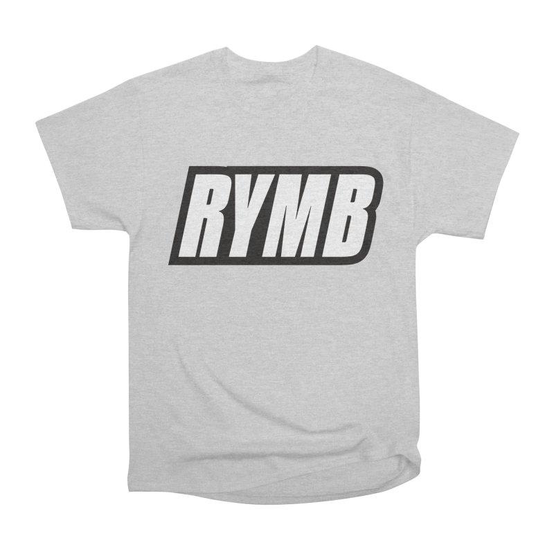 RYMB Logo Black and White Women's Heavyweight Unisex T-Shirt by RYMB Everyday