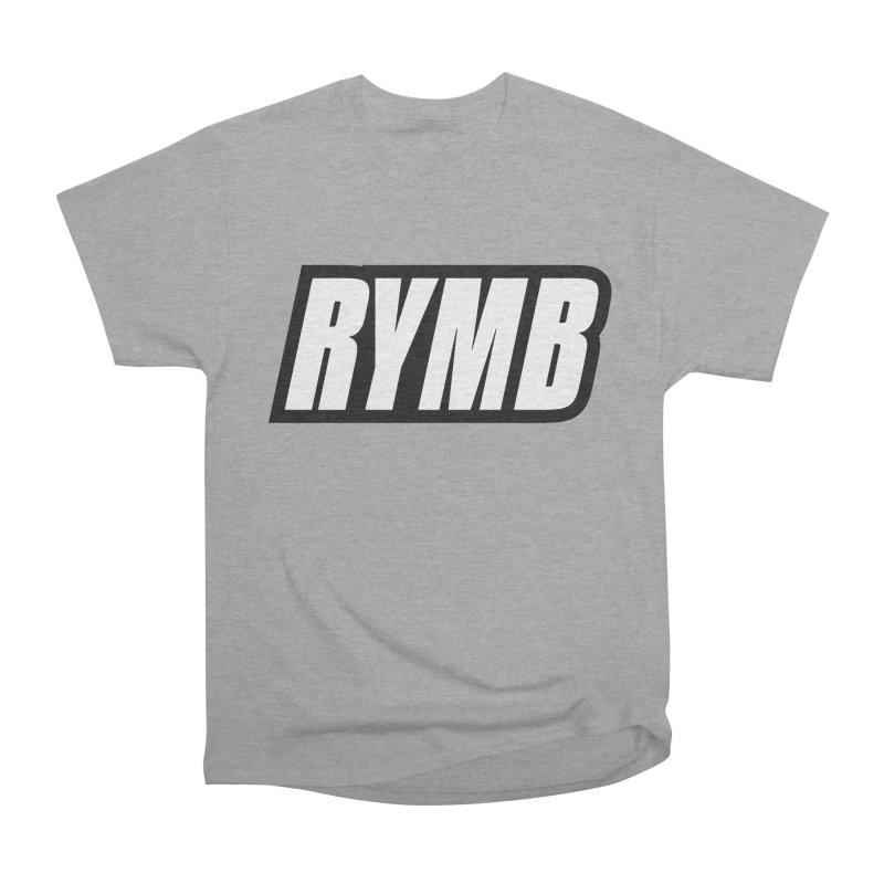 RYMB Logo Black and White Men's Heavyweight T-Shirt by RYMB Everyday