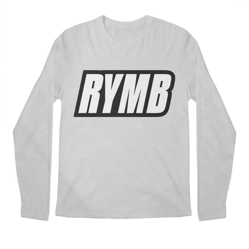 RYMB Logo Black and White Men's Regular Longsleeve T-Shirt by RYMB Everyday