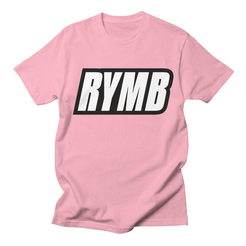 RYMB Logo Black and White Men's Regular T-Shirt by RYMB Everyday