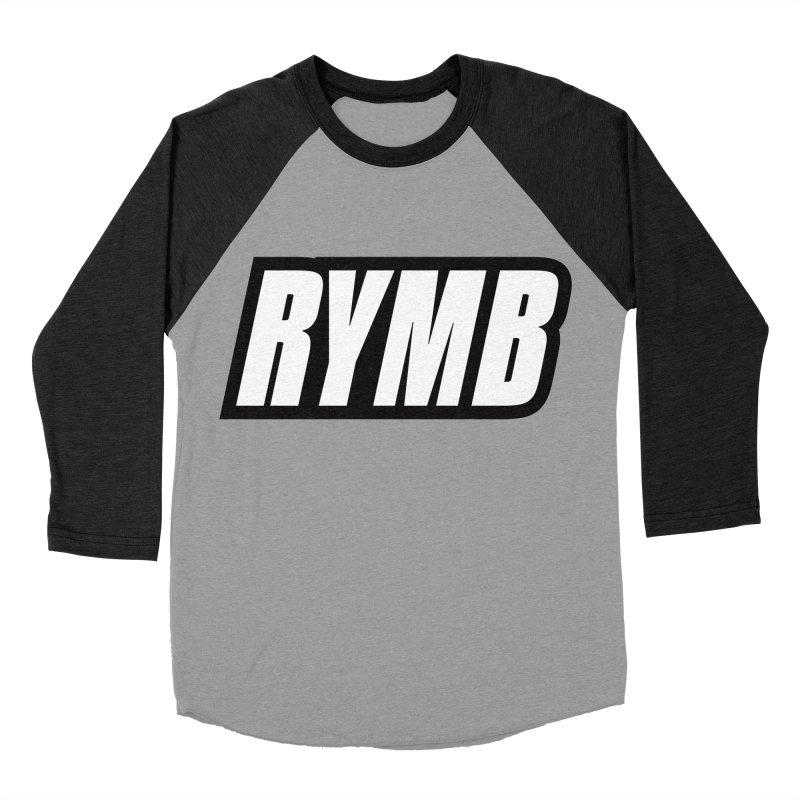 RYMB Logo Black and White Men's Baseball Triblend Longsleeve T-Shirt by RYMB Everyday